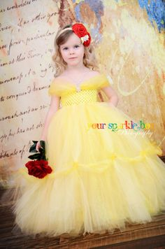 Belle tutu dress Beauty and the Beast yellow marigold