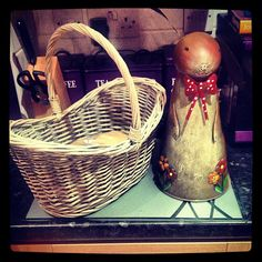 Today's purchases! Bunny #watering #can & #wicker...   Wicker Blog  wickerparadise.com