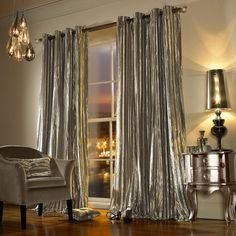 Iliana Eyelet Curtains - Praline