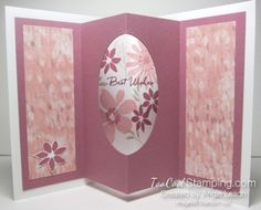 Blooms wishes tunnel card - sugarplum version.  Click the photo to see the other version and the card fronts.  www.toocoolstamping.com