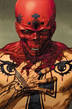 "Mark Millar's Ultimate Avengers.""Evil'' cover with Red Skull by Leinil Yu"