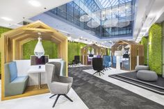 Co-working zone in Shopping Center Wola by Mocolocco, Warsaw – Poland » Retail Design Blog
