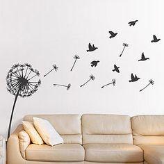 Dandelion And Birds Wall Sticker - children's room accessories