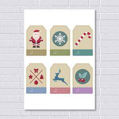 PRINTABLE Christmas Tags Christmas DIY tags by printablelovers