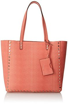 Nine West Hadley Tote Shoulder Bag in Coral - http://www.bagyou