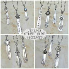 vintage silverware necklaces