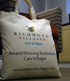 These Richmond Villages Totes bags are great! We hope your customers love them too... https://www.promoparrot.com/aurora-short-handle-cotton-tote-bag.html #promo #carehomes #totebags