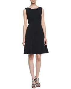 Alexina Sleeveless A-line Dress, Black by T Tahari at Neiman Marcus. $61.50. OMG