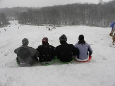 sledding at cherokee park