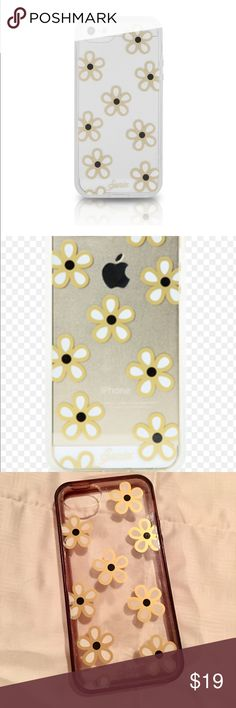 Sonix iPhone 5 Clear Coat Case - Daisy Protects your phone from scratches and dents Polycarbonate exterior and rubberized bumper Retains access to all ports, buttons, and the camera Transparent back with fun daisy pattern in used condition with some scratches. sonix Accessories Phone Cases