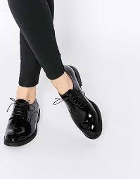 Resultado de imagen para zapatos oxford mujer charol Zapatos Negros c75a929fa264