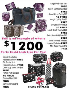 Party with Thirty-One!   www.mythirtyone.com/crystalankrum  www.facebook.com/mylove4bags