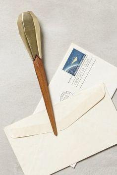 ON SALE Anthropologie Angled Heirloom Letter Opene. #AnthroFave