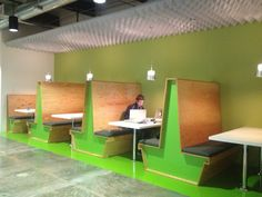 Booths at Facebook.