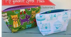 """Favorite Zipper Pouch"".best tutorial"