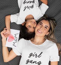 GIRL GANG - Organic Shirt – FAMILY BY HEART Girl Gang, Family Shirts, Organic, T Shirts For Women, Heart, Fashion, Cotton, Moda, Fashion Styles