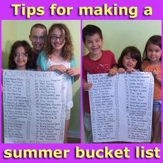 Tips for making a summer bucket list for your family   The Bizy Mommy