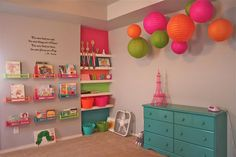 This is my friend's girls' room! Inspired by Pinterest, brought to you by IKEA and Hobby Lobby!