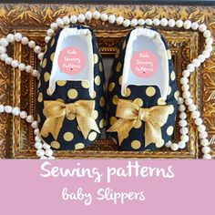 Pdf sewing pattern for children, gold shoes for girls, newborn shoes baby…