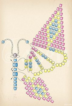 Best Seed Bead Jewelry 2017 Butterfly Scheme Just This Picture Seed Bead Tut . # jewelryInformations About Beste Seed Bead Schmuck 2017 Schmetterling Schema nur dieses Bild Seed Bead Tut . PinYou can easily use my profi Beaded Necklace Patterns, Beaded Bracelets Tutorial, Seed Bead Patterns, Beading Patterns, Embroidery Patterns, Seed Bead Bracelets Diy, Jewelry Bracelets, Crochet Patterns, Mosaic Patterns