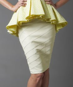 Another great find on #zulily! White Textured Pencil Skirt - Women by Nuvula #zulilyfinds