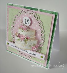 18th Birthday Cards, Birthday Greeting Cards, Fancy Fold Cards, Folded Cards, 3d Cards, Cute Cards, Shaped Cards, Quilling Cards, Cards For Friends