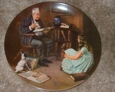 Norman Rockwell Collector Plate,The Storyteller, 8 inch