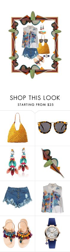 """""""CALIFORNIA DREAMING - SUNGLASS CONTEST ENTRY"""" by hrhjustcuz ❤ liked on Polyvore featuring Mar y Sol, Karen Walker, REMINISCENCE, James Nelson, WithChic, Elle Sasson, Elina Linardaki and Vivienne Westwood"""