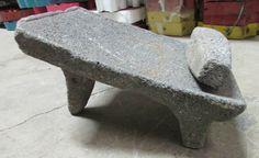 Antique Metate #14-Grinder-Rustic-Complete-Old Mexican--Primitive-11x16x10 in Antiques, Ethnographic, Latin American | eBay