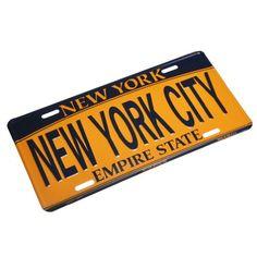 NEW YORK CITY - New York License Plate NY Car Plate NYC Metal Empire Gold Plate NYC Plate Souvenir NY License Plates Decor Decoration Liberty Souvenir
