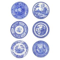 Check out this item at One Kings Lane! Asst. of 6 Porcelain Georgian Plates