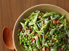 Easter Dinner side dish: Creamy Spring Peas With Pancetta