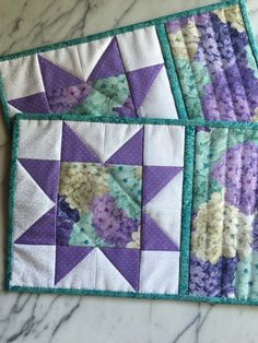 Shabby Chic Mug Rugs  Mini Quilts  Place Mats  by KeriQuilts