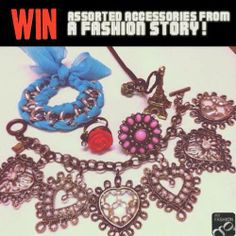 """WIN these accessories from A Fashion Story! Just participate in our #SocialMediaGiveaway for a chance to win these goodies!   ONE lucky winner will get to win these accessories, just do the following:  1) Visit My Fashion Guide & Click """"NOTIFY"""" on A Fashion Story(via our free iPhone/Android app or direct link to website http://myfashionguide.com/listing/a-fashion-story--accessories-online-store.html) 2) Comment below: """"I want to get NOTIFIED by A Fashion Story!"""" and tag 3-5 friends!"""