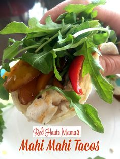 Mahi Mahi Tacos with Roasted Red (& Yellow!) Peppers | Red Haute Mama ...