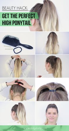 HOW TO GET THE PERFECT HIGH PONYTAIL: BEAUTY HACK