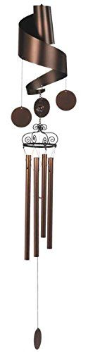 StealStreet SSG99376 Curly Copper Toned Wind Chime with Medium Dangling Circles 47 <3 This is an Amazon Associate's Pin. Locate the item on Amazon website simply by clicking the VISIT button