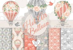 Hey, I found this really awesome Etsy listing at https://www.etsy.com/listing/454896086/watercolor-hot-air-balloon-flowers