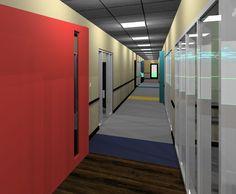 Child Care - rendering - corridor
