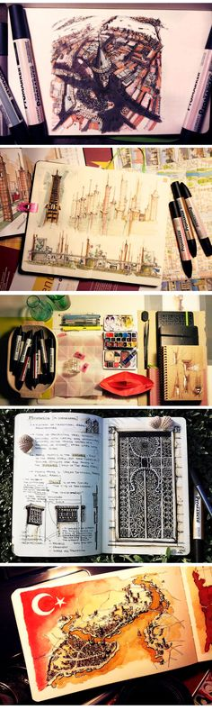 Loredana Micu #journal #urban #sketch #moleskine https://www.behance.net/LoredanaMicu