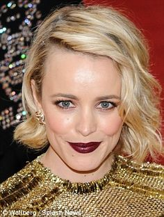 Focal point: To keep the look sophisticated, make-up artists kept the rest of  the look on stars like Rachel McAdams, 37, and Rose Byrne,  36, natural and glowy