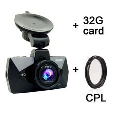"""Dash Cam - SEYDI S1 2.7"""" LCD FHD 1296P 170 Wide Angle Car Dashboard Camera DVR Recorder Ambarella A7 LA70 with CPL 32G Card Dashboard GPS G-Sensor WDR Superior Night Vision WDR Loop Recording. Super HD Video:Ambarella A7 LA70 processor + OV4689 color CMOS sensor, captures 2K (2560*1080P & 2304*1296P @ 30fps,1960*1080P@60fps) HD video and Superior Night-vision, plus WDR greatly enhancing the image quality. H. 264 photography compression technology. (package Includ 32G card). Wide-Angle..."""