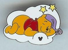 Winnie the Pooh Sleeping on a Cloud Hidden Mickey Disney Pin View all our pins at www.123GoingGoingGone.com