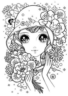 Makoto Takahashi coloring pages. (click thru for more) Adult Coloring Pages, Cute Coloring Pages, Doodle Coloring, Coloring Pages To Print, Printable Coloring Pages, Coloring Books, Colorful Drawings, Colorful Pictures, Art Drawings
