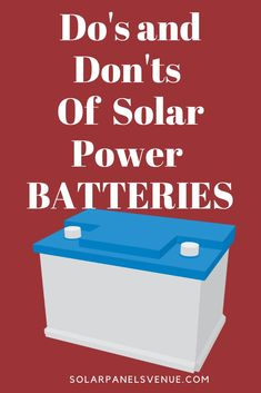 Don't Buy A Solar Battery Before Reading This Definitive & Practical Guide to Solar Panel Batteries. Act Now and Save Your Money! Solar Power Batteries, Solar Power System, Solar Projects, Energy Projects, Solar Energy Panels, Solar Panels, Power Energy, Save Energy, Alternative Energie