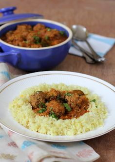 Ages ago, I relished Meatball curry with saffron flavored coconut rice as part of a festive meal at a very dear friend's home. A simple Mutt...