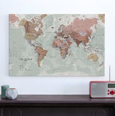 45 Best WORLD MAP CANVAS images | Travel cards, Travel maps, World ...