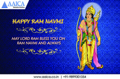 May #LordRama bless you with Success, Happiness and Peace on the auspicious occasion of #RamNavami. #aaicakitchen Wishes #HappyRamNavmi www.aaica.co.in