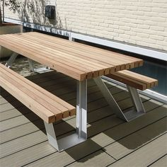 STREETLIFE X-Table & Y-Picnic Set. #StreetFurniture #UrbanDesign #PicnicTable