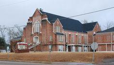 First Baptist Church, Poplarville, MS by E.L. Malvaney, via Flickr